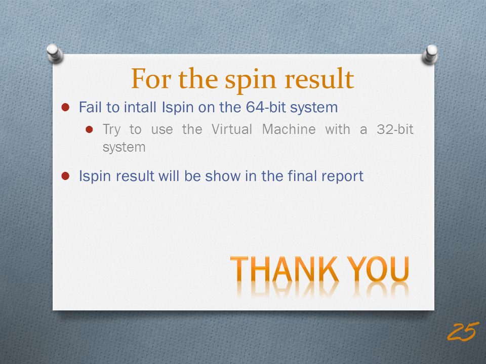 Thank you For the spin result