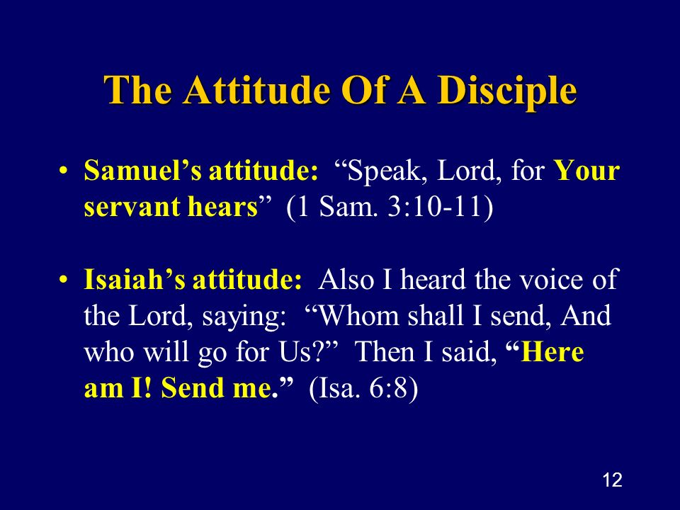 The Attitude Of A Disciple