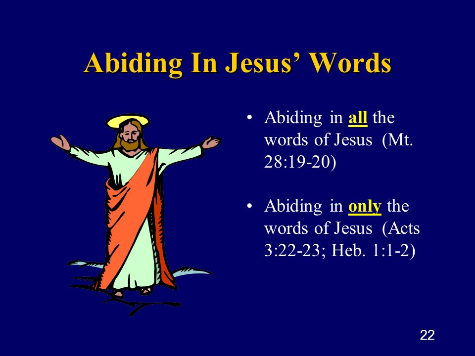 Abiding In Jesus' Words