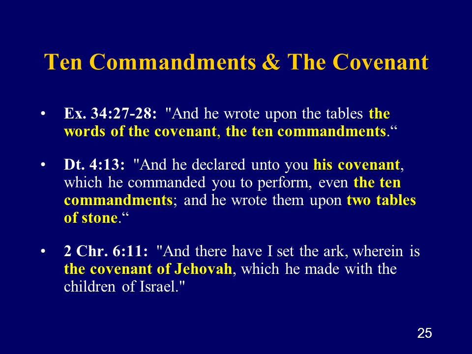 Ten Commandments & The Covenant
