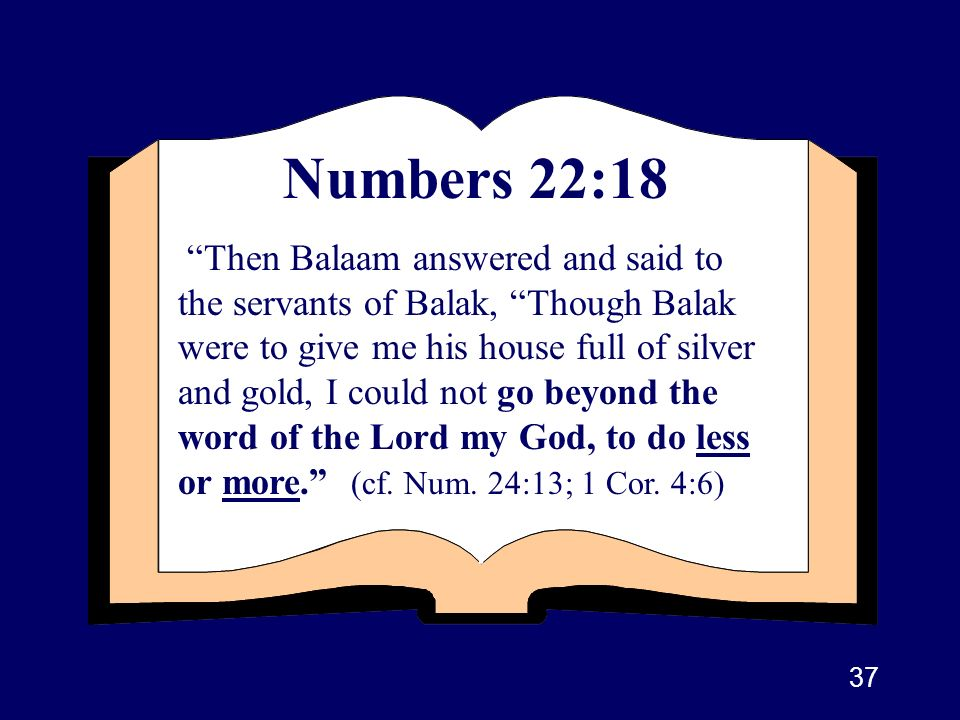 Numbers 22:18