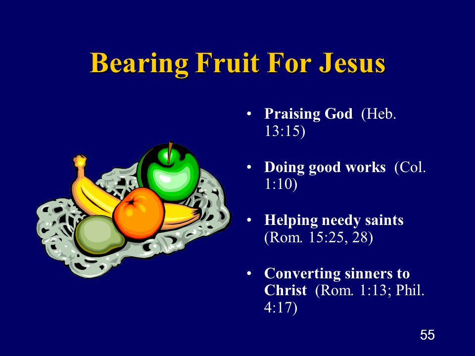 Bearing Fruit For Jesus