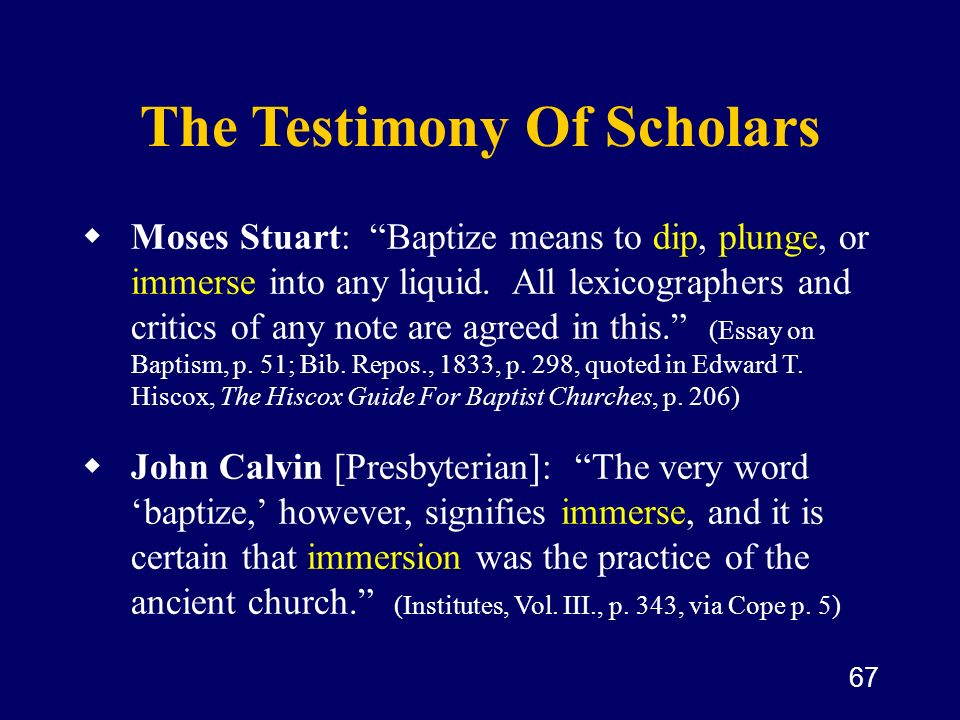 The Testimony Of Scholars