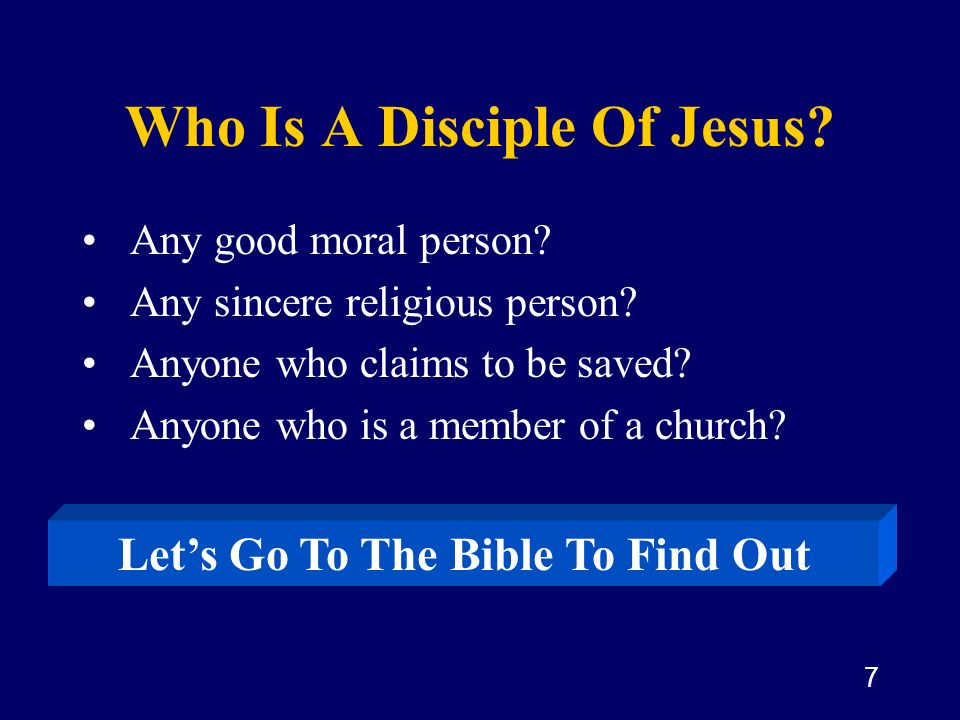 Who Is A Disciple Of Jesus