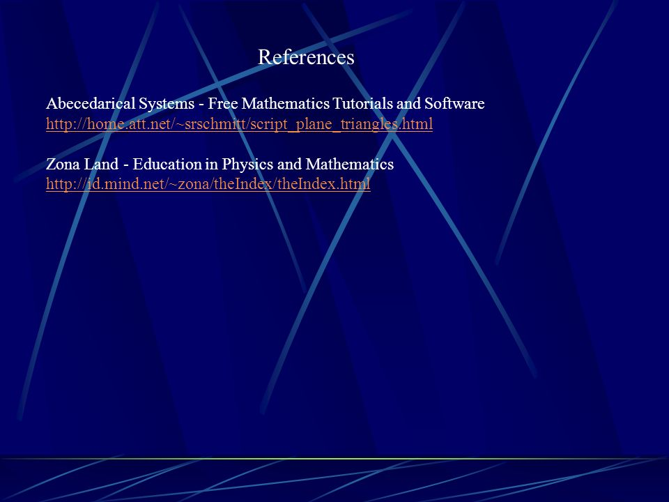 References Abecedarical Systems - Free Mathematics Tutorials and Software.