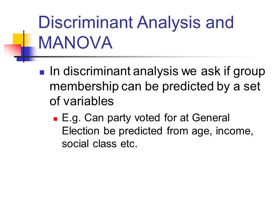 Manova And Discriminant Analysis Alan Garnham Spring Ppt Video Online Download