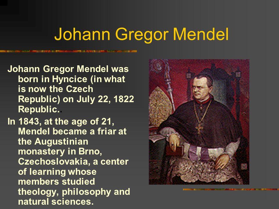 gregor mendel nationality