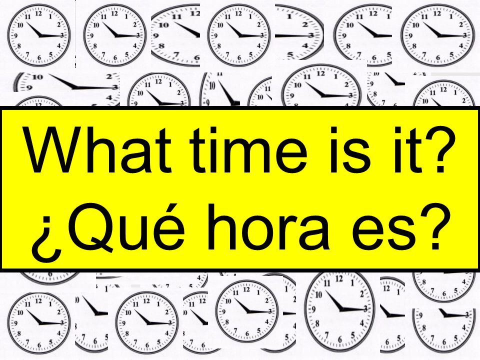 What time is it ¿Qué hora es