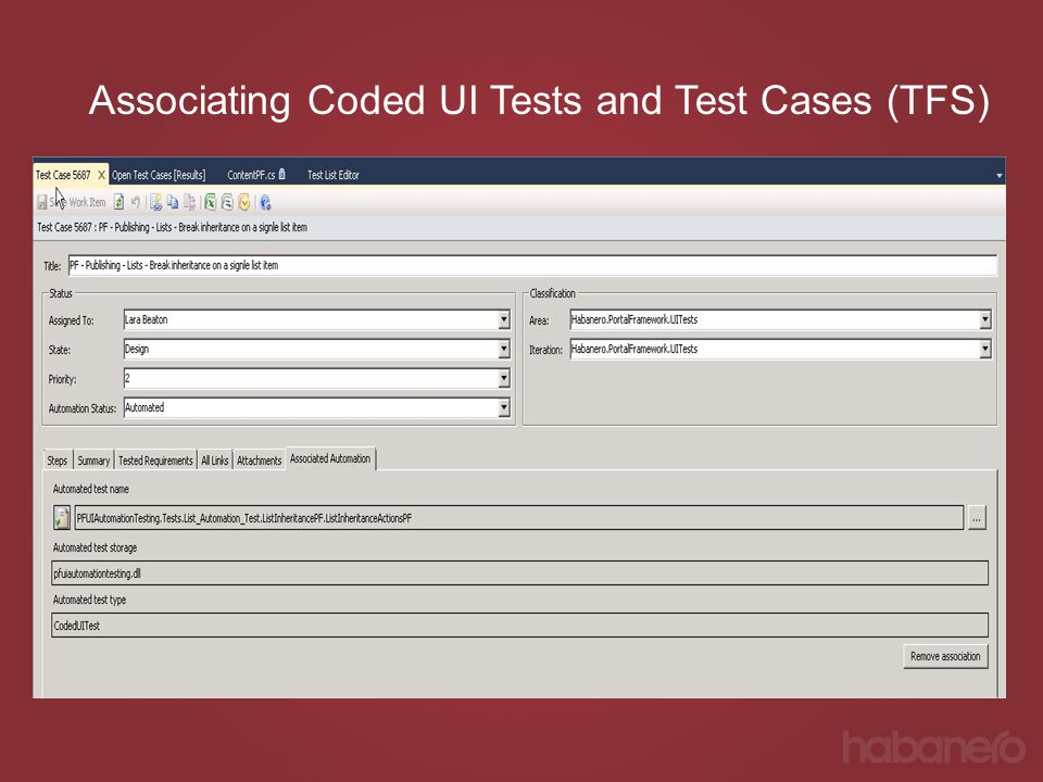 Associating Coded UI Tests and Test Cases (TFS)