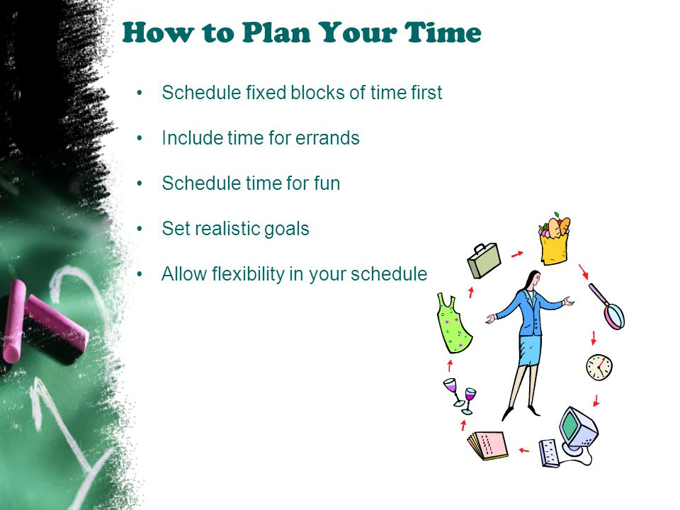 How to Plan Your Time Schedule fixed blocks of time first
