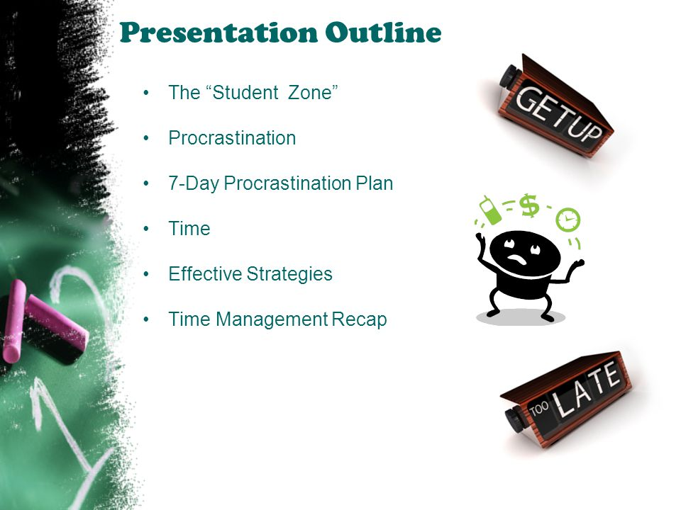 Presentation Outline The Student Zone Procrastination