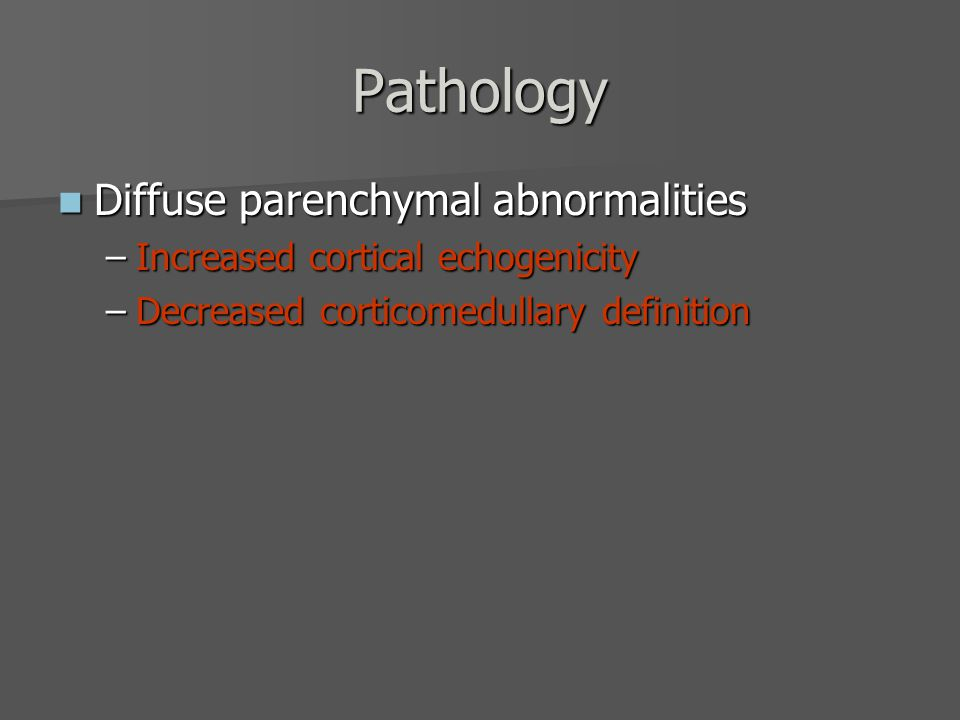 Pathology Diffuse parenchymal abnormalities