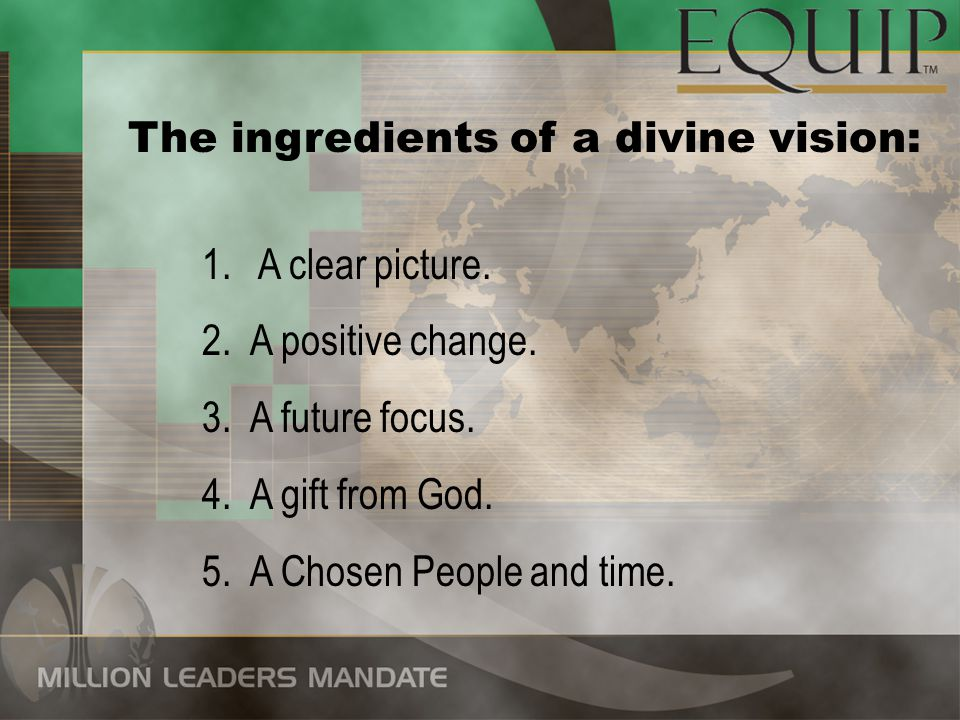 The ingredients of a divine vision: