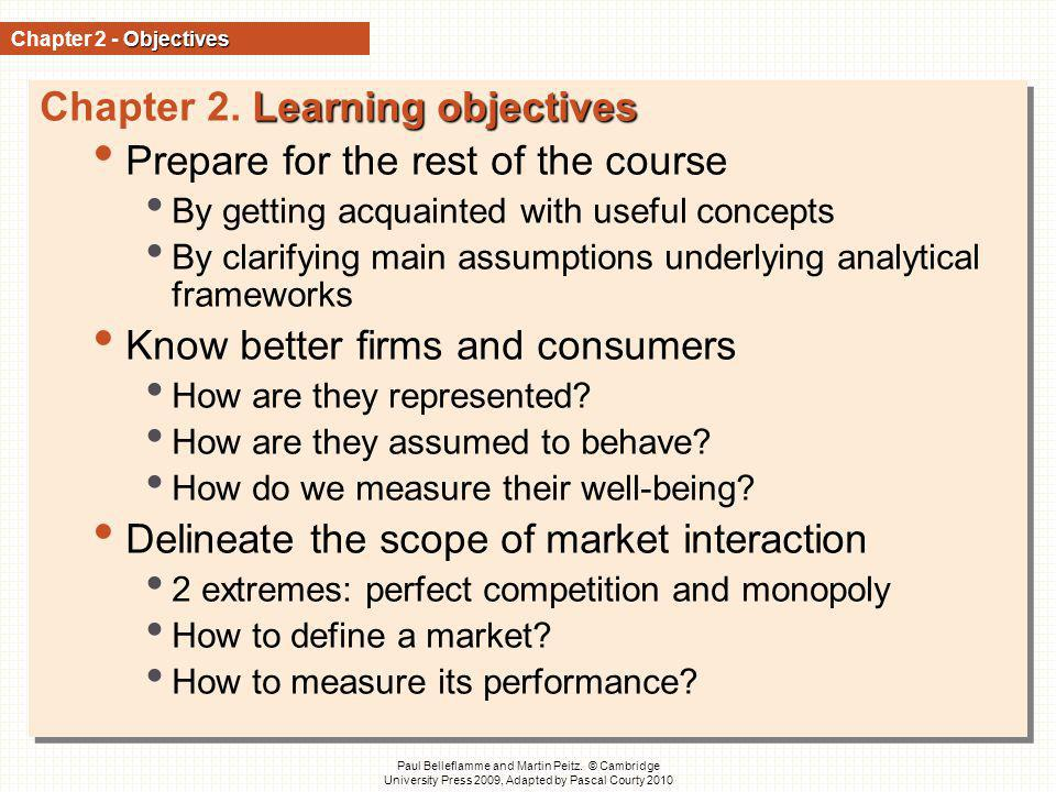 Chapter 2. Learning objectives Prepare for the rest of the course