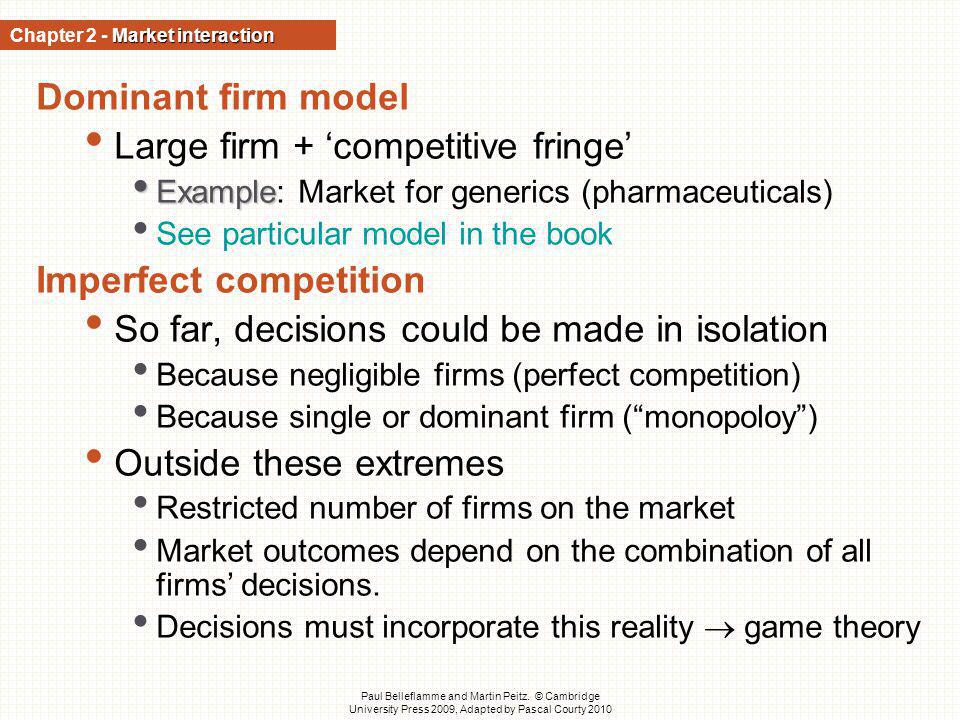 Chapter 2 - Market interaction