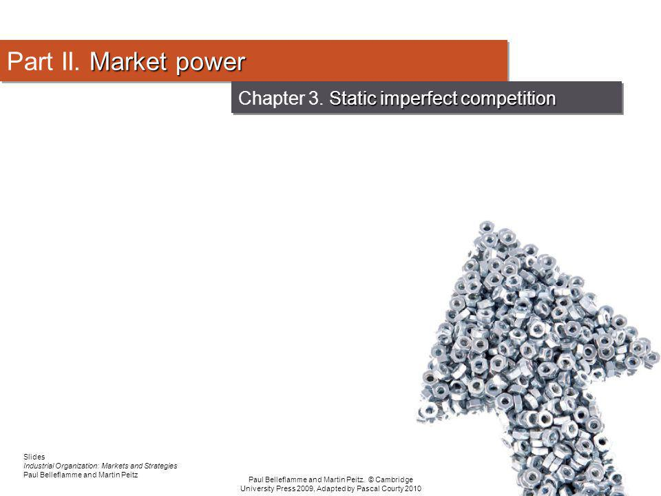 Chapter 3. Static imperfect competition