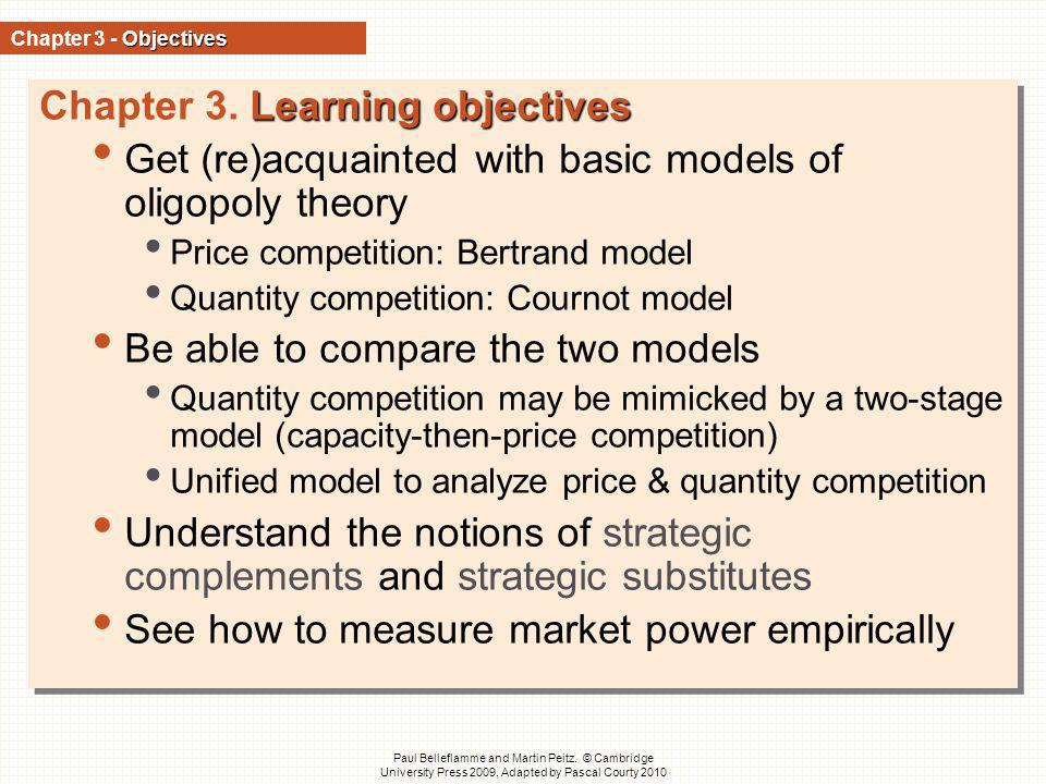 Chapter 3. Learning objectives
