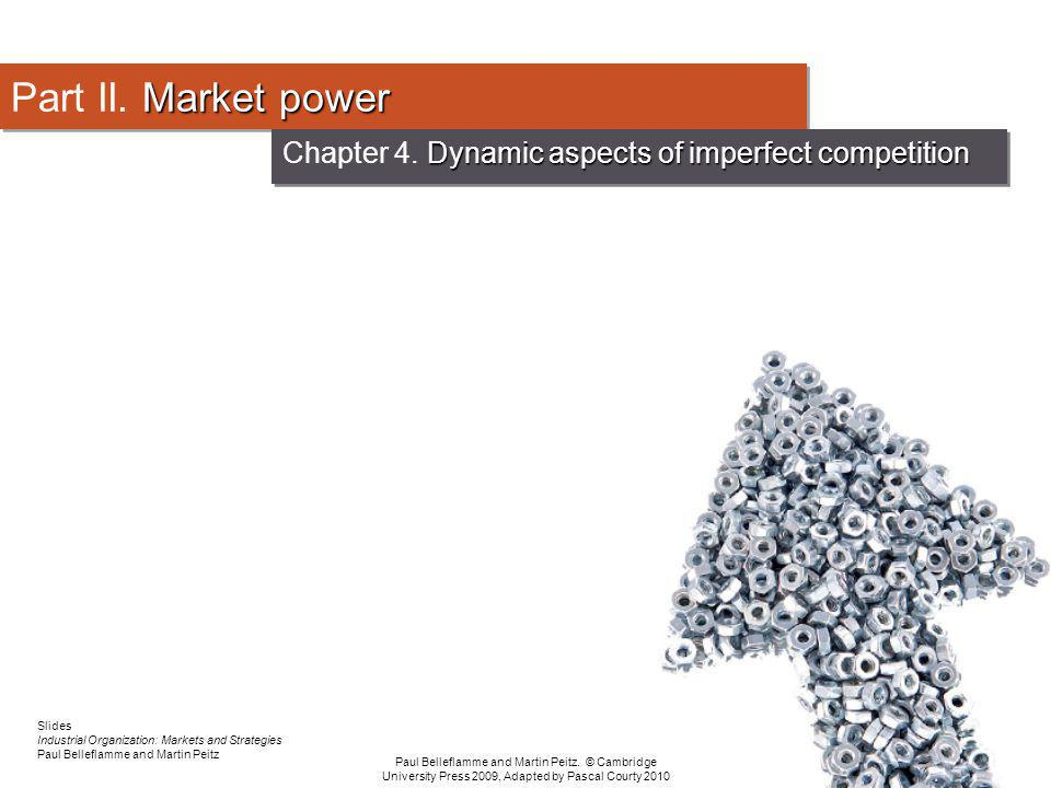 Chapter 4. Dynamic aspects of imperfect competition