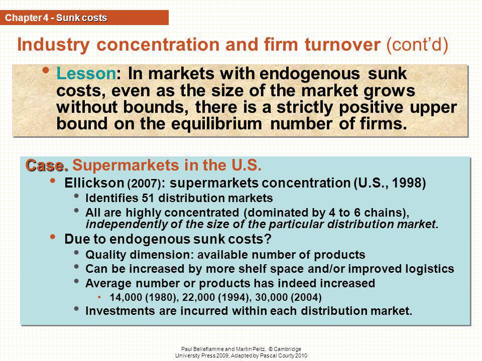 Industry concentration and firm turnover (cont'd)