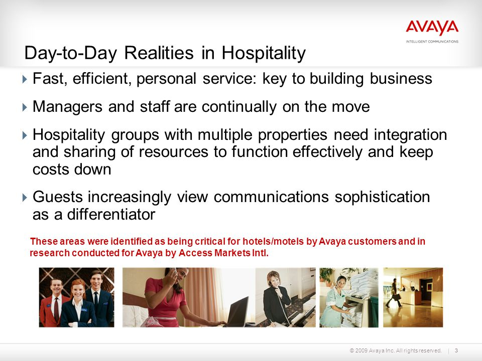 Day-to-Day Realities in Hospitality