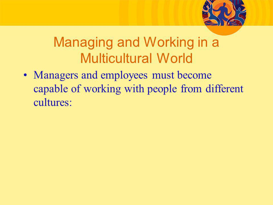 Managing and Working in a Multicultural World
