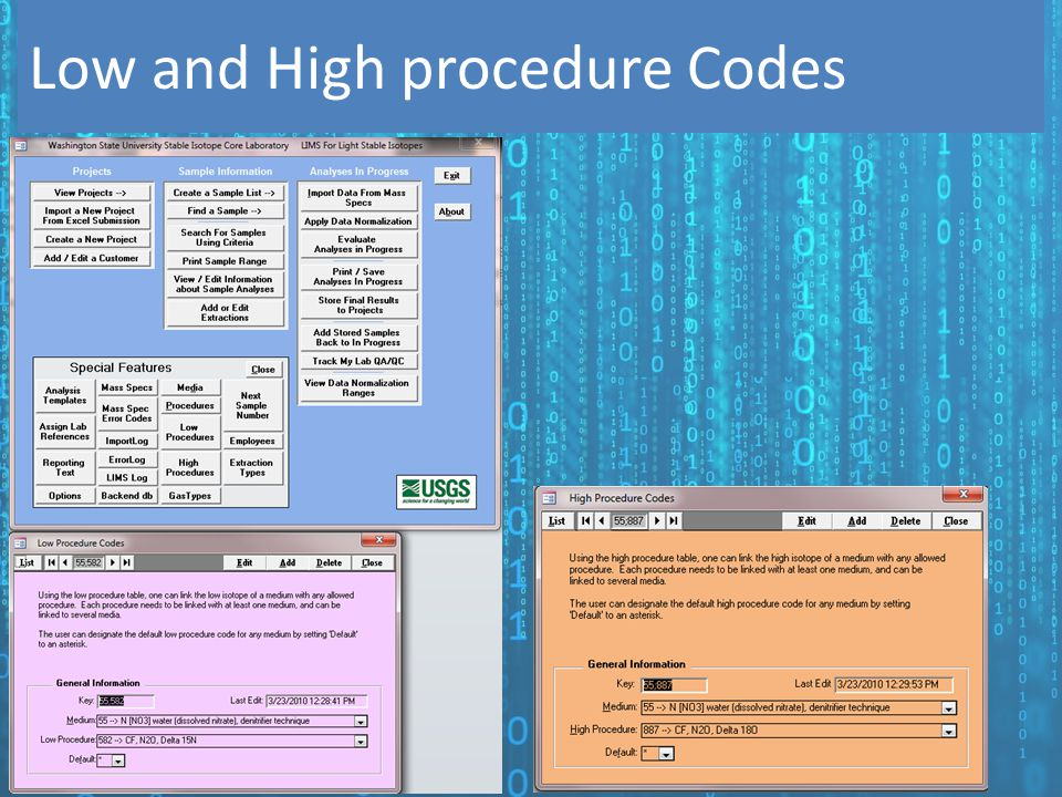 Low and High procedure Codes