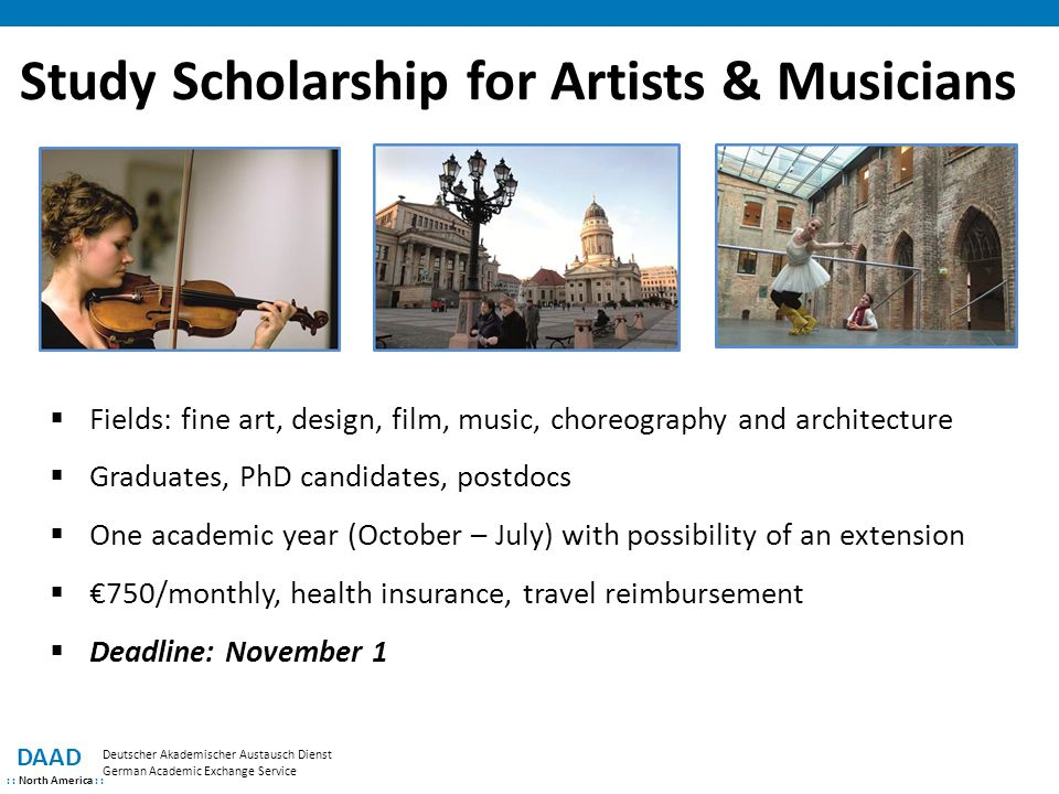 Study Scholarship for Artists & Musicians