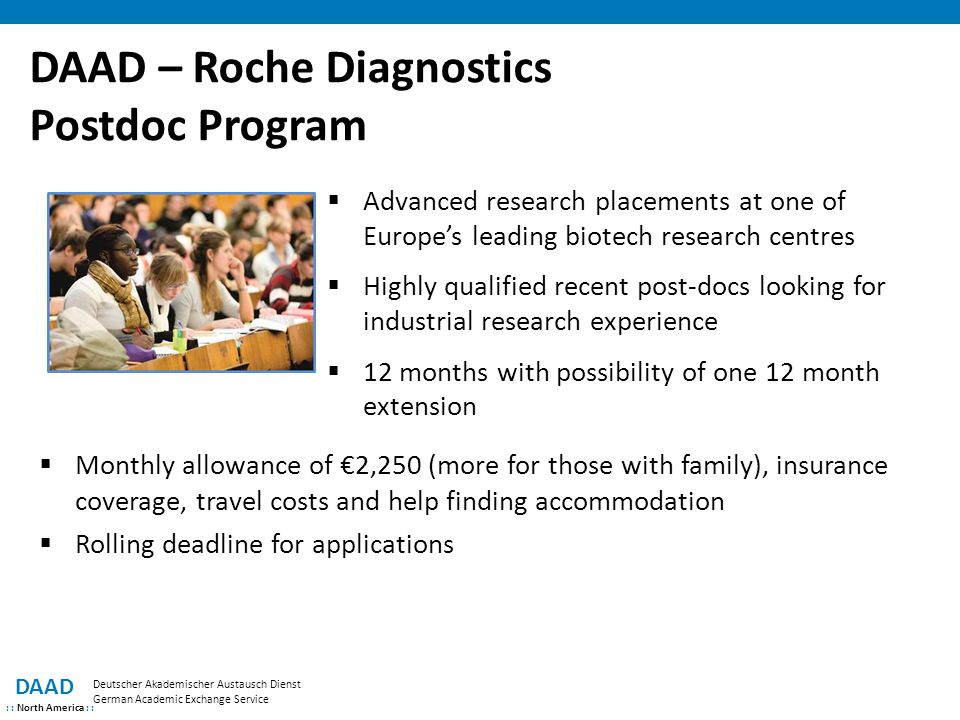 DAAD – Roche Diagnostics Postdoc Program