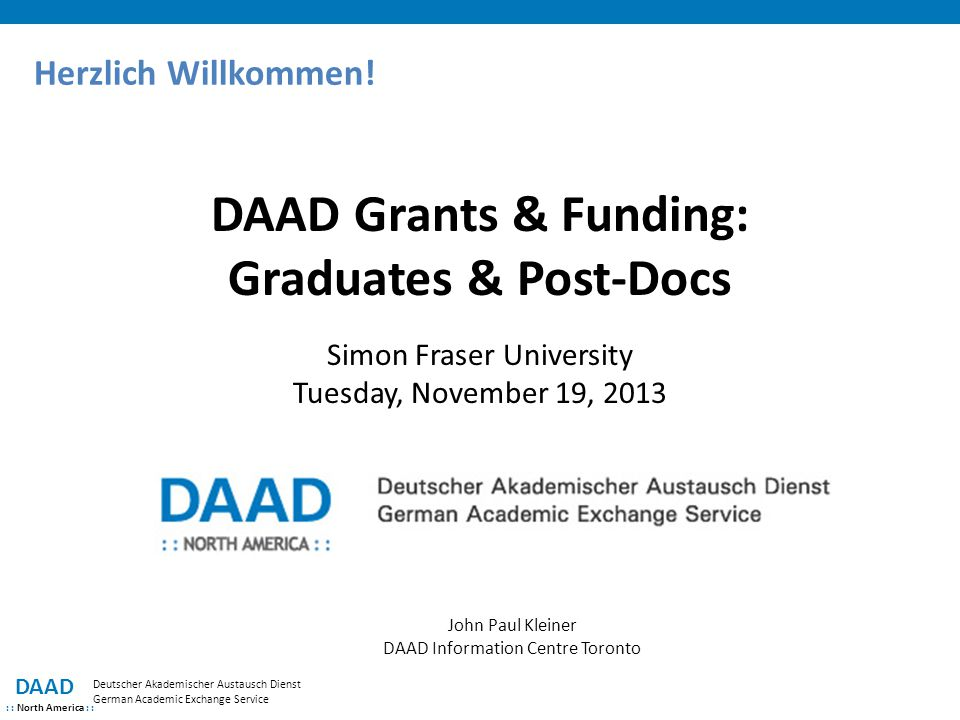 DAAD Grants & Funding: Graduates & Post-Docs