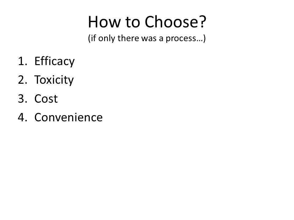 How to Choose (if only there was a process…)