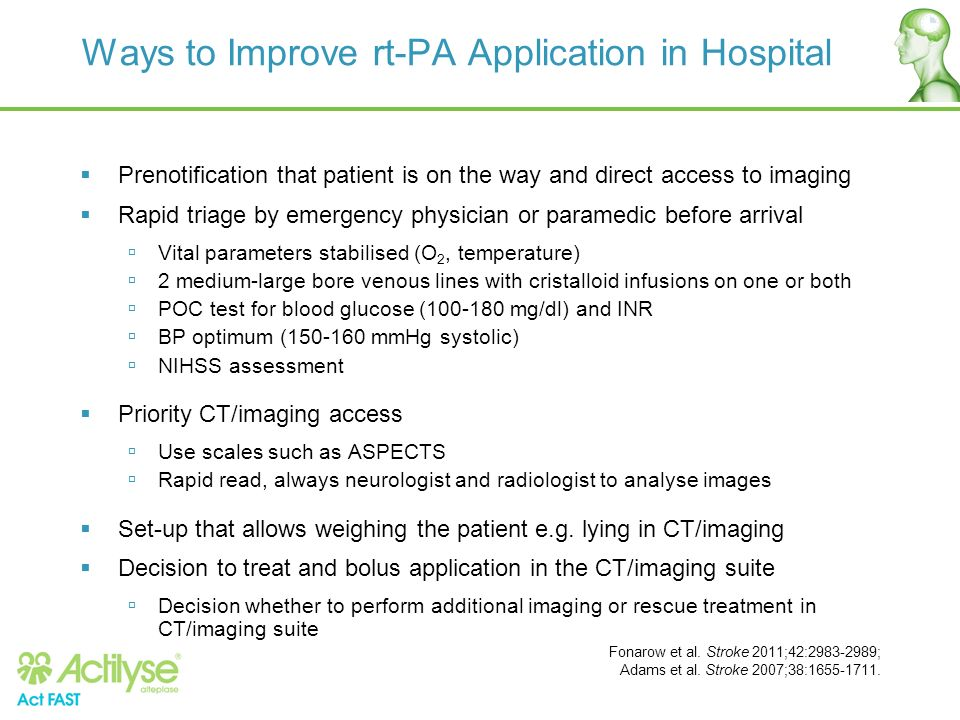 Ways to Improve rt-PA Application in Hospital