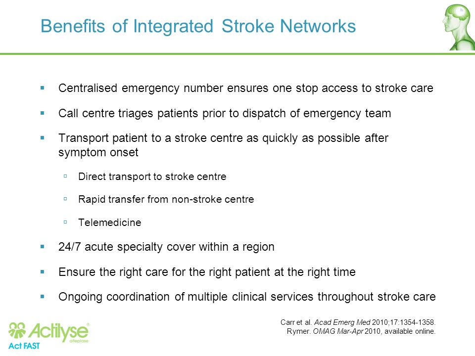 Benefits of Integrated Stroke Networks