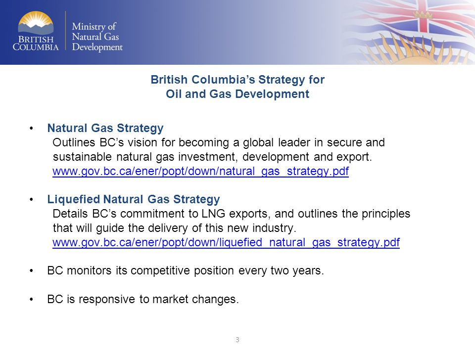 British Columbia's Strategy for Oil and Gas Development