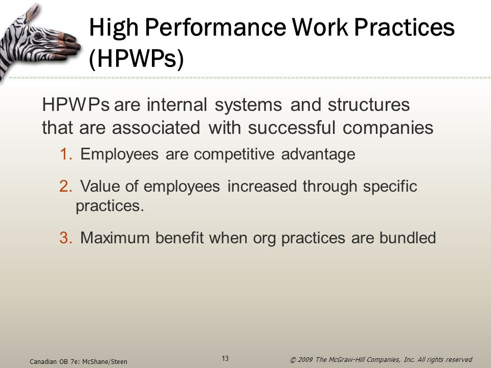 High Performance Work Practices (HPWPs)