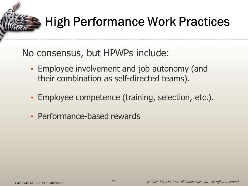 High Performance Work Practices