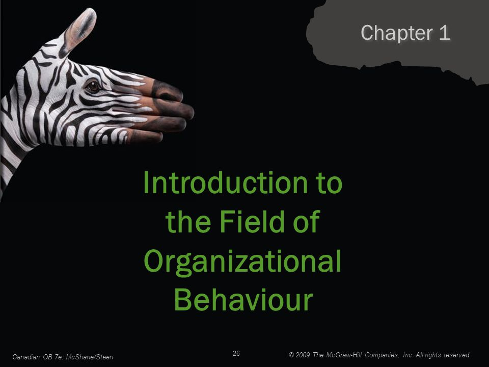 Introduction to the Field of Organizational Behaviour