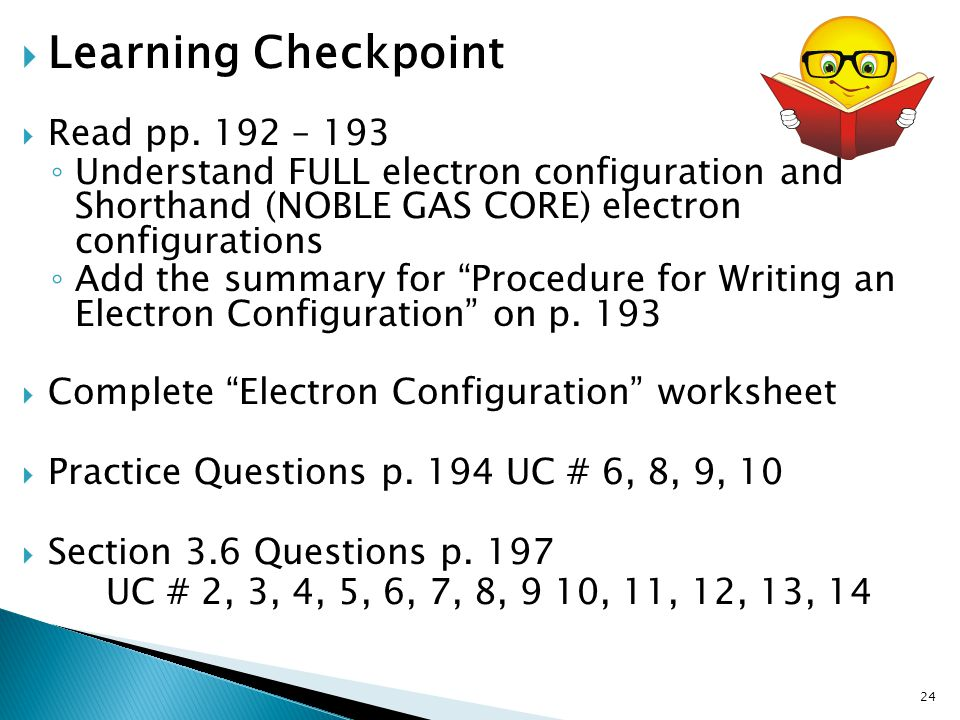 Learning Checkpoint Read pp. 192 – 193