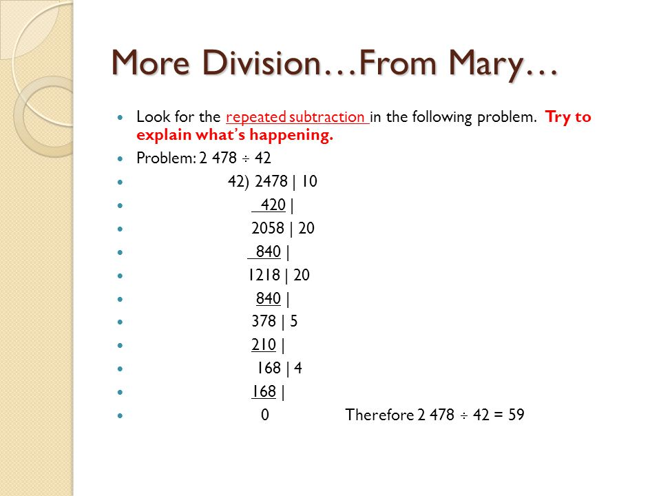 More Division…From Mary…