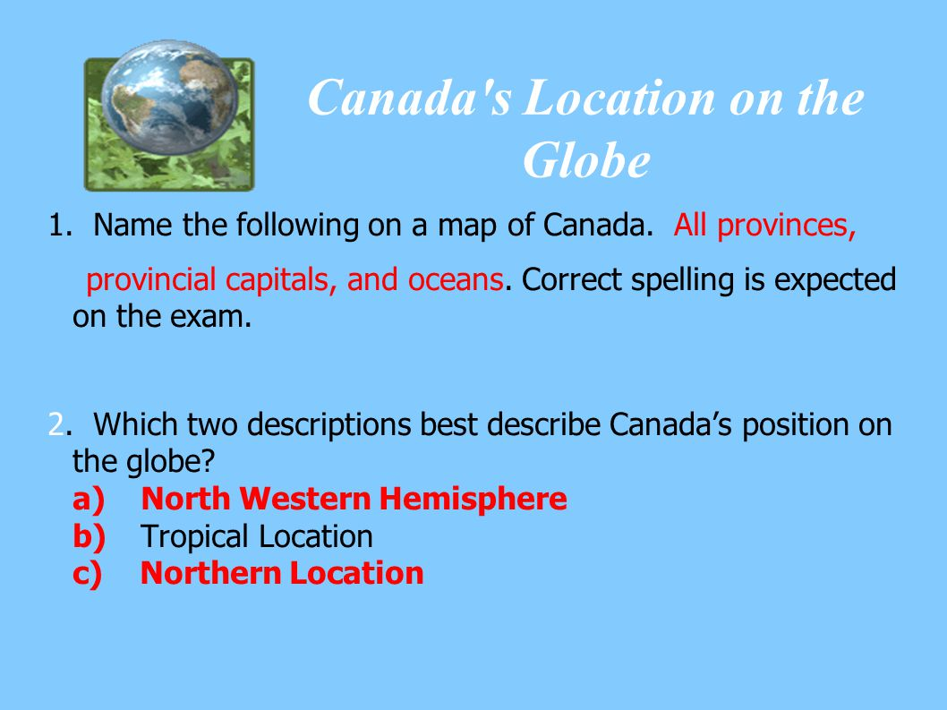 Canada s Location on the Globe