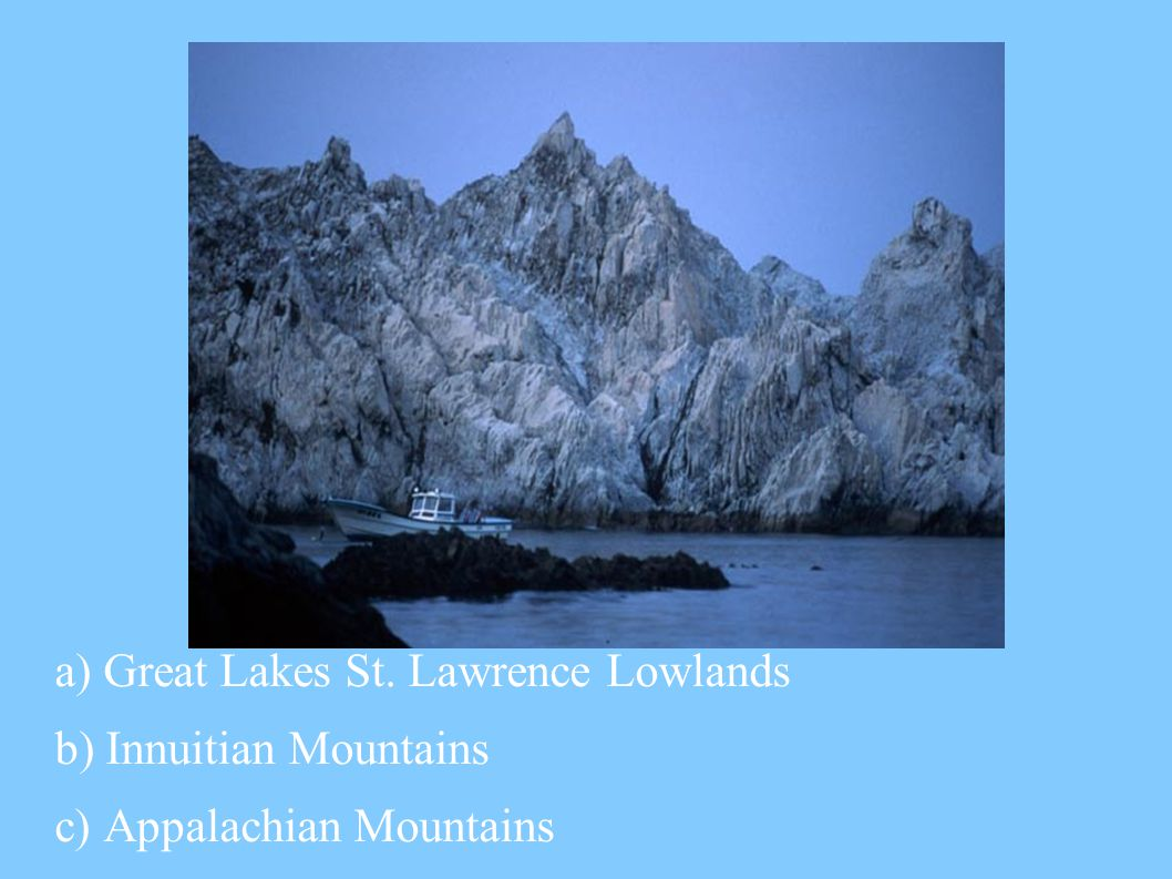 a) Great Lakes St. Lawrence Lowlands