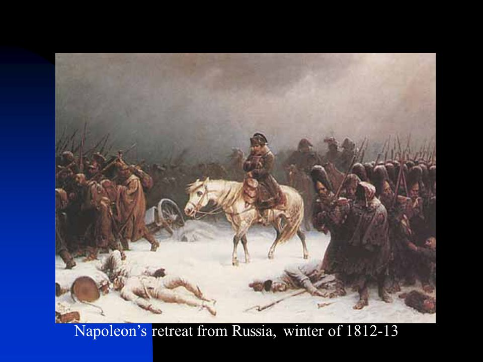 Napoleon's retreat from Russia, winter of 1812-13