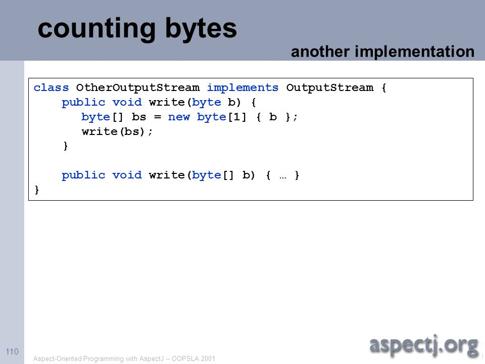 counting bytes another implementation