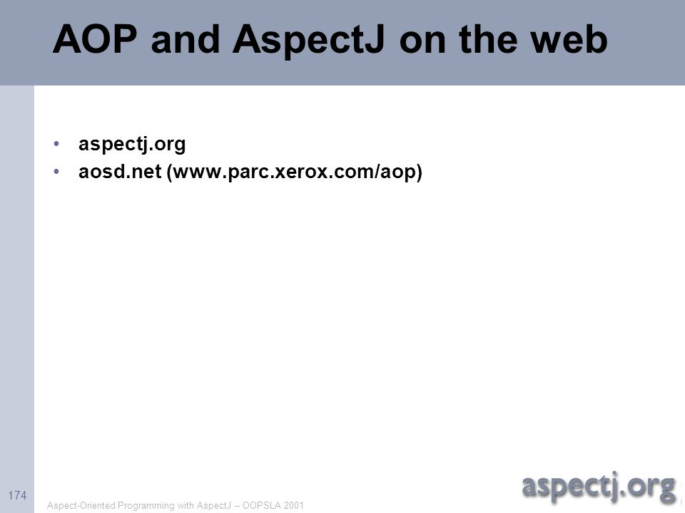 AOP and AspectJ on the web