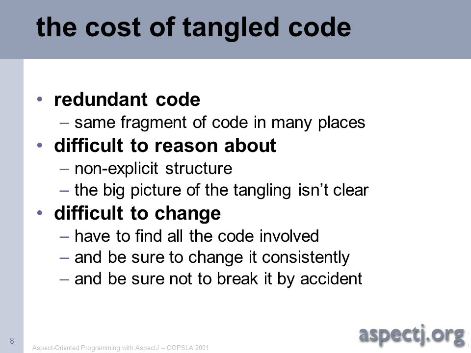 the cost of tangled code