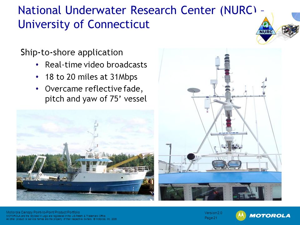 National Underwater Research Center (NURC) – University of Connecticut