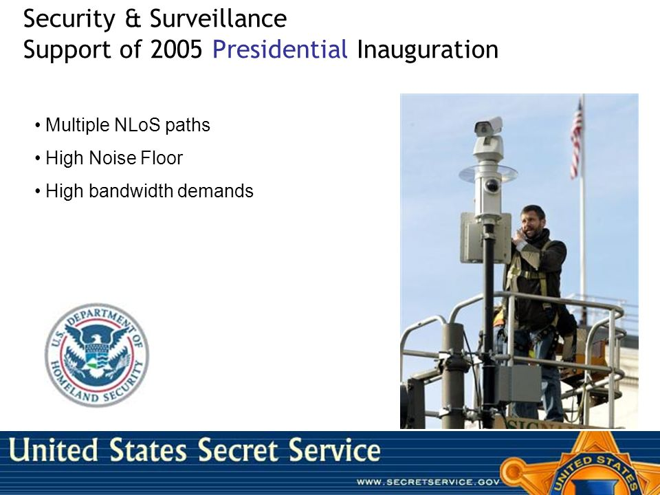 Security & Surveillance Support of 2005 Presidential Inauguration