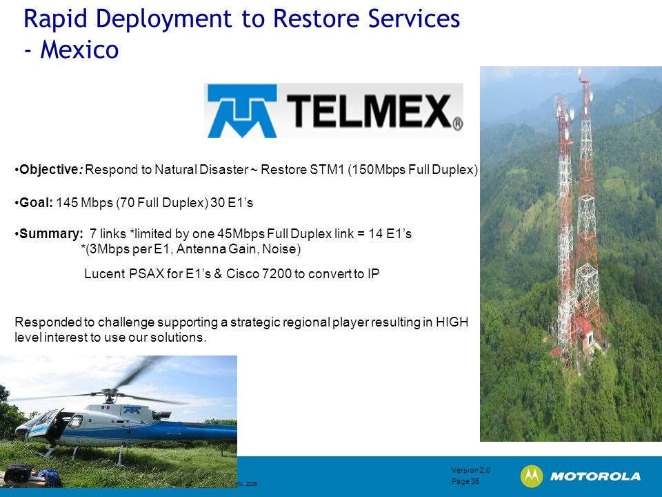 Rapid Deployment to Restore Services - Mexico