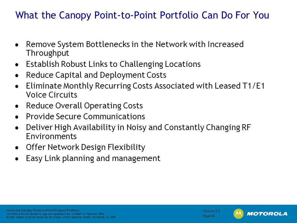 What the Canopy Point-to-Point Portfolio Can Do For You