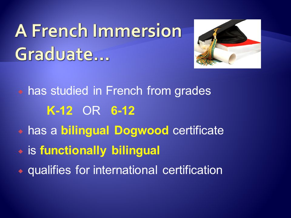 A French Immersion Graduate…