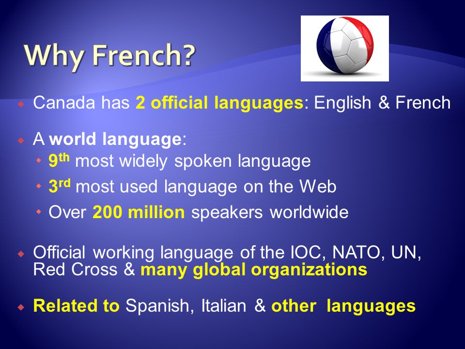 Why French Canada has 2 official languages: English & French